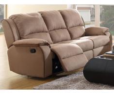 Relaxsofa Microfaser 3-Sitzer Herna - Braun