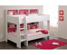 PARISOT Kinderbett Hochbett Etagenbett Tam-Tam - 90x200 cm - Rosa