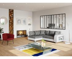 Couchtisch Glas Design Kelly - Transparent & Schwarz