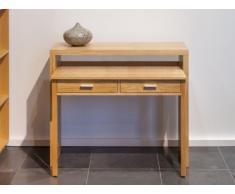 Wandkonsole Schreibtisch Holz Sisko - Ausziehbar - Eichefarben