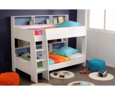 PARISOT Kinderbett Hochbett Etagenbett Tam-Tam - 90x200 cm - Blau