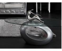 Couchtisch Glas Pebble - Limited Edition - Silber