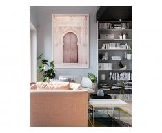 Kunstdruck gerahmt DOOR - 80 x 120 x 2,5 cm - Rosa & Beige