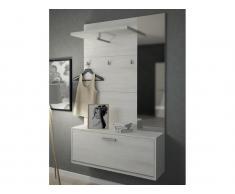 Garderobe CALEB - 1 Tür & 1 Ablage - Kiefernholzfarben