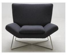 Lounge-Sessel Stoff Carmina - Schwarz