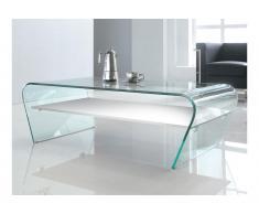 Couchtisch Glas Design KELLY - Weiß