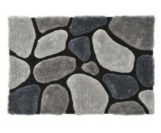 Hochflor-Teppich Pietra - Grau - 140x200cm