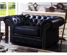 Chesterfield Ledersessel Clotaire - Dunkelblau