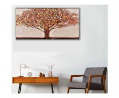 Ölgemälde handgemalt Landhausstil AUTUMN - 70 x 140 cm - Orange