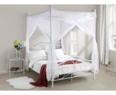 Himmelbett Metall DIDON - 140x190 cm - Weiß