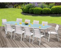 Gartenmöbel Essgruppe Aluminium PALAOS (11-tlg.) - Weiß