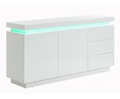 Sideboard mit LED-Beleuchtung EMERSON II - Holz (MDF) - Weiß