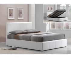 Polsterbett mit Bettkasten Tremplin - 140x190cm - Weiß