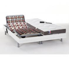 Matratzen elektrischer Lattenrost 2er-Set 100% Latex JUPITER - OKIN-Motoren - Weiß - 2x70x190 cm