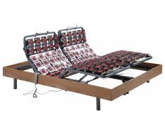 Relax-Lattenrost mit 182 Tellermodulen Eichenholz von DREAMEA - Motor OKIN - 2x100x200 cm