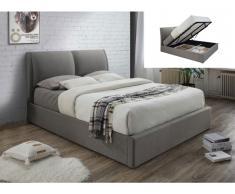 Polsterbett mit Bettkasten ALCEO - 160x200cm - Grau