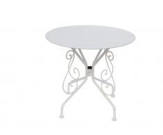 Gartentisch Eisen Herzkönigin - Weiß