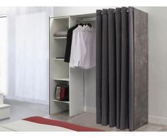 Kleiderschrank Kleiderschranksystem Emeric - Beton Optik & Anthrazit