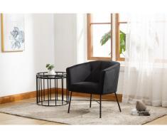 Lounge-Sessel FAKART - Samt - Schwarz