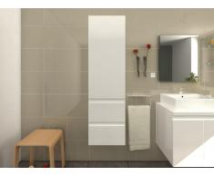Badschrank Hochschrank LAVITA - Weiß lackiert