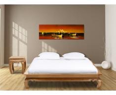 Bett Teak massiv Opiumbett Lovina - 160x200 cm - Hell