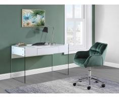 Bürostuhl PEGA - Höhenverstellbar - Samt - Grün