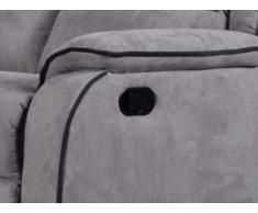 Relaxsofa Microfaser 3-Sitzer Herna - Grau