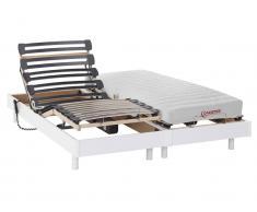 Matratzen elektrischer Lattenrost 2er-Set Latex TYNDARE - OKIN-Motoren - Weiß - 2 x 70 x 200 cm