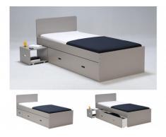 Bett mit Bettkasten Pacom - 90x190cm - Taupe