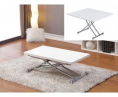 Couchtisch Stahl Clever - Höhenverstellbar - Weiß