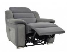 Relaxsessel Leder Microfaser Incliner Arena II - Grau/Anthrazit