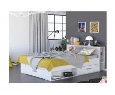 Bett mit Stauraum Leonis - 160x200cm - Weiß
