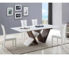 Essgruppe Jayda: Esstisch + 4 Stühle Hollis