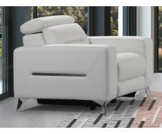 Relaxsessel Fernsehsessel elektrisch PAULY - Leder - Weiß