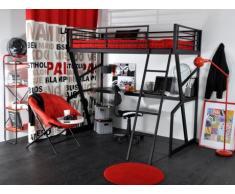 Hochbett mit Schreibtisch Teenager - 90x190cm
