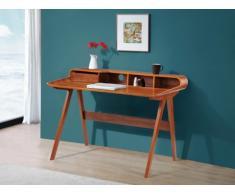 Schreibtisch Sekretär Holz Loki - Nussbaumfarben