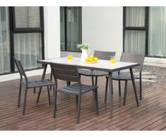 Garten Essgruppe Aluminium SAIPAN - Tisch & 4 Stühle