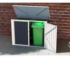 Mülltonnenbox doppelt ILARIO - Metall - B181 x T107 x H131 cm