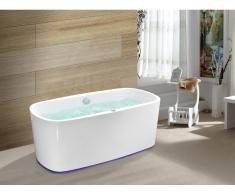 LED-Whirlpool Badewanne SIRGAO - 1 Person - 155 L - Weiß
