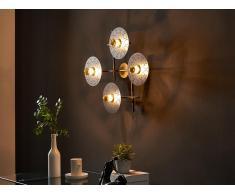 Wandleuchte geometrisch BOLTON - Metall - 4 Leuchten - Goldfarben & Schwarz