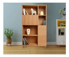 Bücherregal VOLGA - 2 Türen & 5 Ablagen