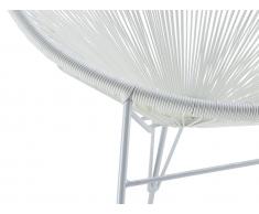 Gartenstuhl 2er-Set Polyrattan ALIOS II - Weiß