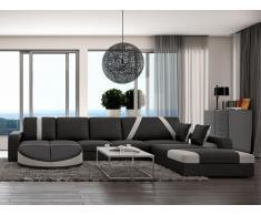 XXL Wohnlandschaft Design Mintika - Schwarz