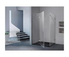 Duschtrennwand Seitenwand Eckdusche CLARINDA - 100x80x190cm