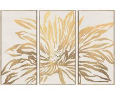 Kunstdruck gerahmt LILIA - 180 x 120 x 4 cm - Goldfarben