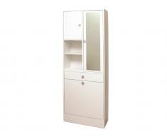Badezimmerschrank mit Wäschekippe Plizz - Weiß