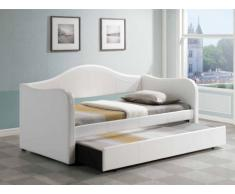 Ausziehbett LIPOVA + Lattenrost - 90x190cm - Weiß