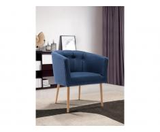 Lounge-Sessel GRAPE - Stoff - Blau