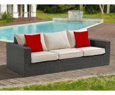 Polyrattan Gartenmöbel 3-Sitzer-Sofa Rio Grande - Cremefarben