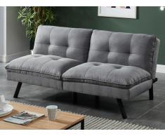 Klappsofa 3-Sitzer Stoff PEGULA - Grau